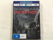 Inception (2010) - Lenticular Cover + Comic Book 4-Disc Blu-Ray/DVD | Rare | VGC