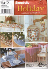 """UNCUT Simplicity Holiday Pattern Collection 5412 """"Holiday Decorations"""" Christmas"""