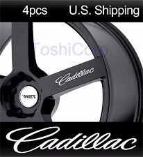 4 CADILLAC Stickers Decals Door handle Wheels mirror rims CTS sport WHITE