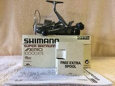 Shimano Super Aero 10000 XTE Baitrunner Reel cw spare spool & box (1 of 3) MINT