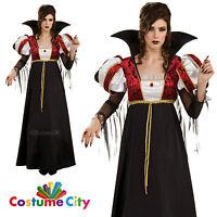 Womens Ladies Royal Vampira Vampire Queen Halloween Fancy Dress Party Costume