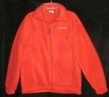 Columbia Fleece Zip-Front Jacket Orange Youth 14/16 EUC