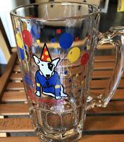 BUD LIGHT Beer 1987 Vintage Spuds Mackenzie 5 1/2 inch Glass Beverage Mug