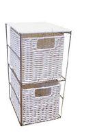 2 Drawer White Resin Storage Unit - Home Storage Free P&P Special Price Bed Bath
