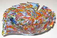 "Beautiful Millefiori Murano/Italian Glass, Fish Shaped Dish/5 1/2"" x5""x1 1/2"""