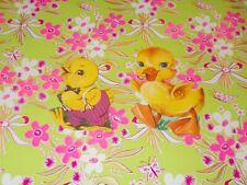 "Vtg Easter Dennison Cardboard Decoration Die Cut Duck & Chick 4"" Cute #L"