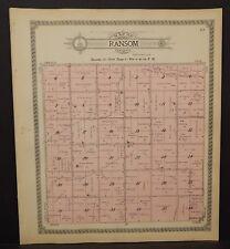 Minnesota Nobles County Map Ransom Township 1914  L15#48