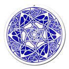 Fenster Glas Bild Nr. 46. Mandala 1. blau Ø10cm Licht Fänger keltisches Symbol