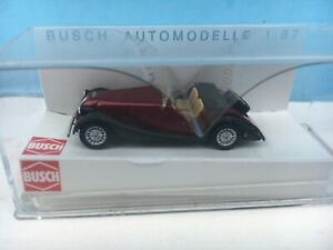 BUSCH 47104 Red MORGAN PLUS 8 Car MIP 1:87 HO Scale