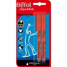 Berol by Papermate Handwriting Pen, Blue Ink x2, Cheap School Office Pens