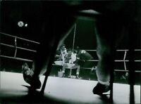 Sugar Ray Robinson in the boxing ring. 1963. - 8x10 photo