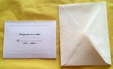 25 Wedding Respond Cards W/ Envelopes White Ivory Very Simple New