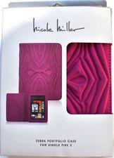 Nicole Miller Zebra PortFolio Case  for Amazon Kindle Fire 2 (Pink)