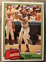 1981 Topps Dave Concepcion Baseball Card #375 Reds High Grade O/C