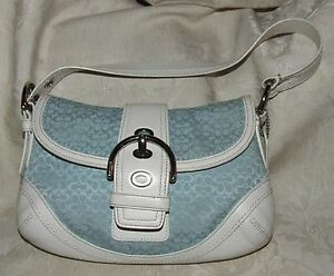 VINTAGE 2007 COACH #F10925 Signature Soho Satchel Buckle Flap Shoulder Bag