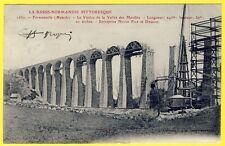 cpa 50 - FERMANVILLE Construction du VIADUC Ferroviaire Ets NOYON Fils et DAUDON