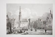 Romerberg à Francfort Allemagne gravure Rouargue frères vers 1850