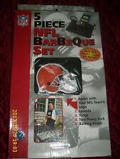 5 PIECE BBQ BARBEQUE SET NFL TEAM LOGO BROWNS
