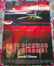 Vtg LOST HIGHWAY Large French Movie Poster 1997 David Lynch Patricia Arquette