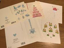 lot 5 Greeting Card new papyrus GRADUATION baby born Birthday turnowsky art