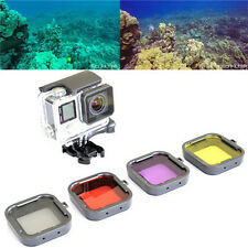 4Pcs GoPro Hero 4 3 Red Yellow Grey Purple Color Diving UV Filter Lens Cover