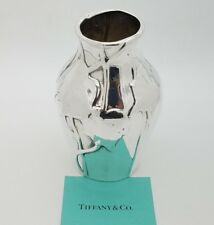 """Tiffany & Co. Sterling Silver 925 """"Louis Comfort Tiffany Collection"""" Vase"""