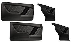 Sport R Molded Door & Quarter Panel Set - Black - for 1968 Camaro by TMI
