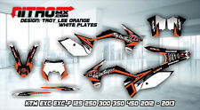KTM Graphics Kit Decal Design Stickers  EXC EXC-F 125 250 300 350 450 2012 2013