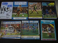 Brighton & Hove Albion v Southampton FA Cup Quarter Final 1985/86 Programme