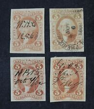 CKStamps: US Revenue Stamps Collection Scott#R24a R27a Used Crease