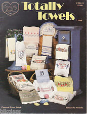 Totally Towels Counted Cross Stitch Pattern Cook Bowl Run Aerobics Housewarming