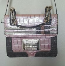 brand new pink and brown snakeskin Guess purse