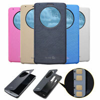Ultra Slim Quick Circle Clear Window Flip Case Cover For LG Optimus G3/G4