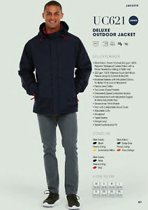 Deluxe Outdoor Waterproof coat. Free full colour embroidered logo included!