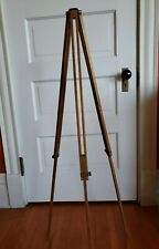 Vintage Oak Wood Camera Telescoping Collapsible Tripod w/ Adjustable Legs 3.5 ft