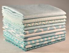 Designer Fabric Bundle Aqua, 10 fat quarters, 100% cotton fabric