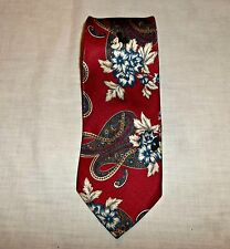 Mickey Mouse Walt Disney Company Tie Paisley Multicolor Peek A Boo Red Floral