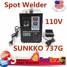 110V Handheld SUNKKO 737G Battery Spot Welder with Pulse Current Display 800A US