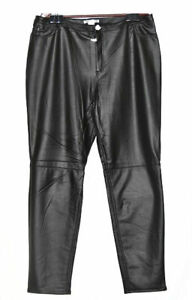 K. Jordan Women's Faux Leather Legging in Black - 1X