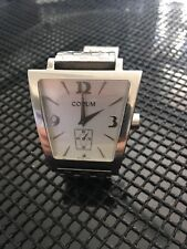 CORUM  BOUTIQUE TRAPEZE MOTHER OF PEARL DIAL STAINLESS STEEL QUARTZ WATCH