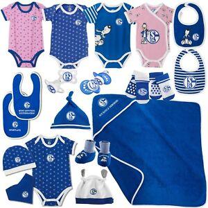 FC Schalke 04 Baby Body Mütze Königsblau rosa Babyset Schnuller Söckchen Socken