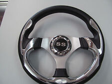 EZ GO, POLARIS,TOMBERLIN,GEM,GOLF CART CHROME  STEERING WHEEL #900EZ SS
