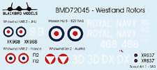 Westland Rotors 1/72nd scale decals