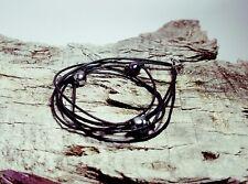 bracelet cuir et véritable  perle  de TAHITI