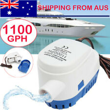 12V 1100GPH Boat Automatic Submersible Bilge Water Pump Auto With Float Switch