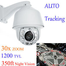 New Auto Tracking 30x Zoom 1200TVL PTZ Analog High Speed CCTV Security Camera
