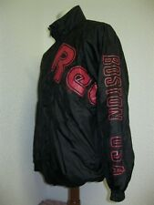 Vintage 90' Ancienne VESTE SURVÊTEMENT REEBOK BOSTON NOIR & ROUGE Jogging Jacket