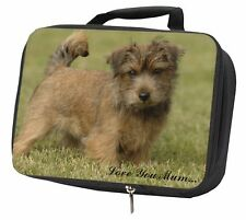 More details for norfolk norwich terrier 'love you mum' black insulated school lunc, ad-nt1lymlbb