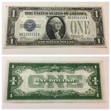 VINTAGE one DOLLAR RADAR 1928-A $1 SILVER CERTIFICATE BILL FUNNYBACK BLUE VNC