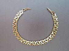 "Vintage 14k Yellow Gold Bracelet 10.4g Solid Links 7mm Wide Unique Chain 7"" Long"